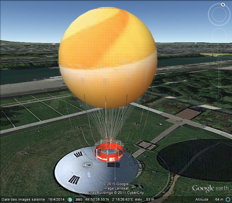 Globe dans le Parc André Citroën à Paris - France C23