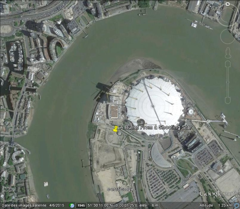 "Enfin visible sur GE : A Bullet From A Shooting Star"" - Greenwich Peninsula - Londres - uk C47"