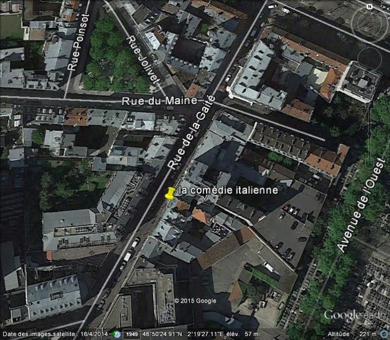 La Comédie Italienne - Rue de la gaieté - Paris C49