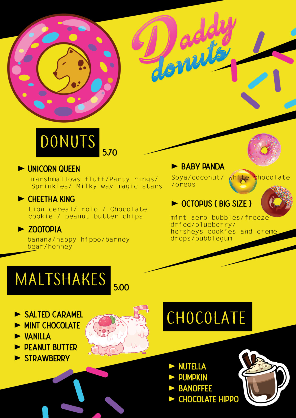 Daddy Donuts:  le food truck 100% sucre & gras ! Affich12