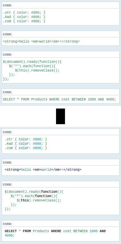 كود javascript تلوين الاكواد بالمواضيع . كود تحديد المحتوى احترافي Hljs10