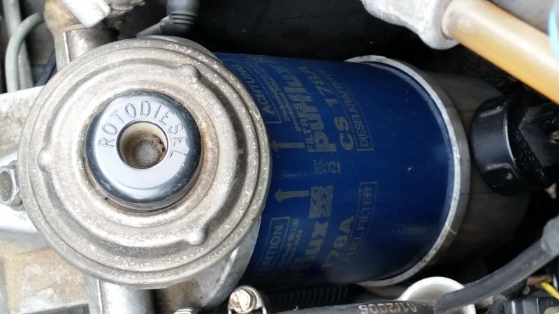 changer la membrane de la pompe d'amorçage sur J8S 20150911