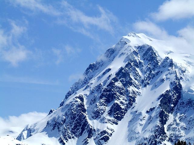 La neige en montagne ... B50310