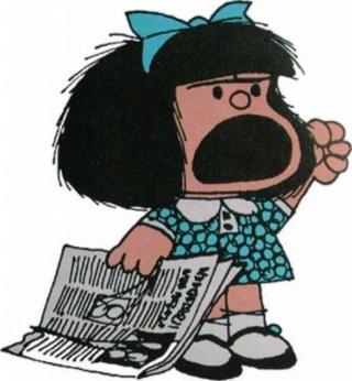 """De mi serie 1º Dialogo con Mafalda"" -Soneto dialogado- 90703811"