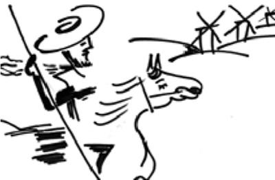 """""""De molinos y gigantes"""" -Soneto heroico con estrambote- Quijot15"""