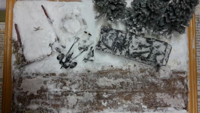 Месть - 43 зим (vengeance - hiver 43) - SdKfz 7 Airfix - Pak 37 + T34/76 Italeri (échelle 1/72) 20150812