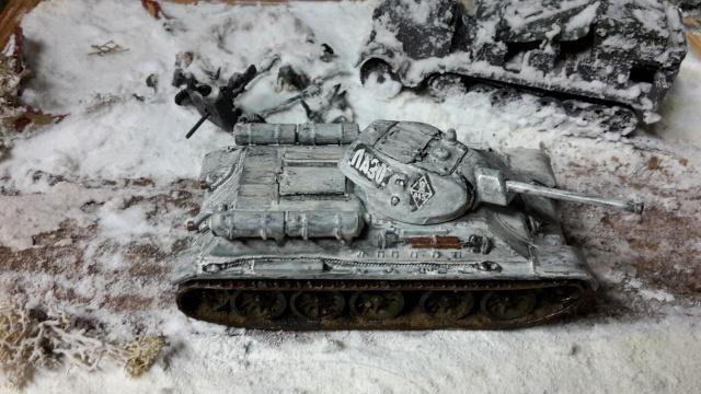 Месть - 43 зим (vengeance - hiver 43) - SdKfz 7 Airfix - Pak 37 + T34/76 Italeri (échelle 1/72) 20150912