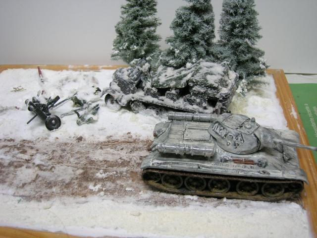 Месть - 43 зим (vengeance - hiver 43) - SdKfz 7 Airfix - Pak 37 + T34/76 Italeri (échelle 1/72) Dscn3627