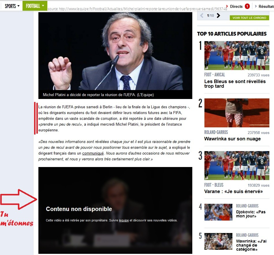 BarçaGate: FIFA Poitiers-Berlin les mensonges de Valls Hollande et Platini Vidyo_10