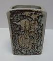Slab-built stoneware vase Marksp30