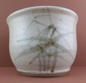 Painted mark on vase AM or AB - Alan Brough or Alan Bleastow?  Marksp35