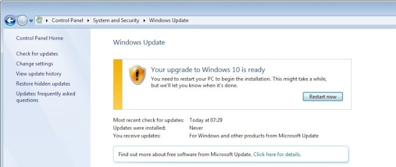Windows Update KB3035583 Crap11