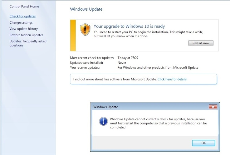 Windows Update KB3035583 Crap111