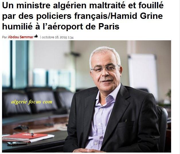 Ministres Algeriens soumis a la fouille corporelle, ils passent a paris plus qu'en Algerie Hamid_10