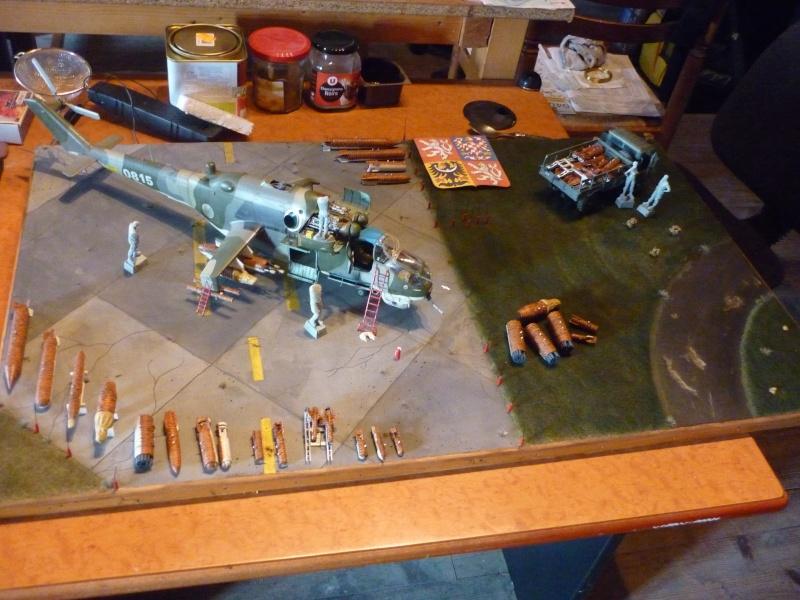 Meeting Tiger meet hélicoptère ; MIL MI 24 HIND E Trumpeter 1/35 et GAZ 66 Eastern Express  -1/35 P1020823