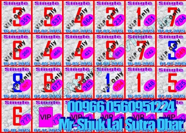 Mr-Shuk Lal 100% Tips 01-11-2015 Single20