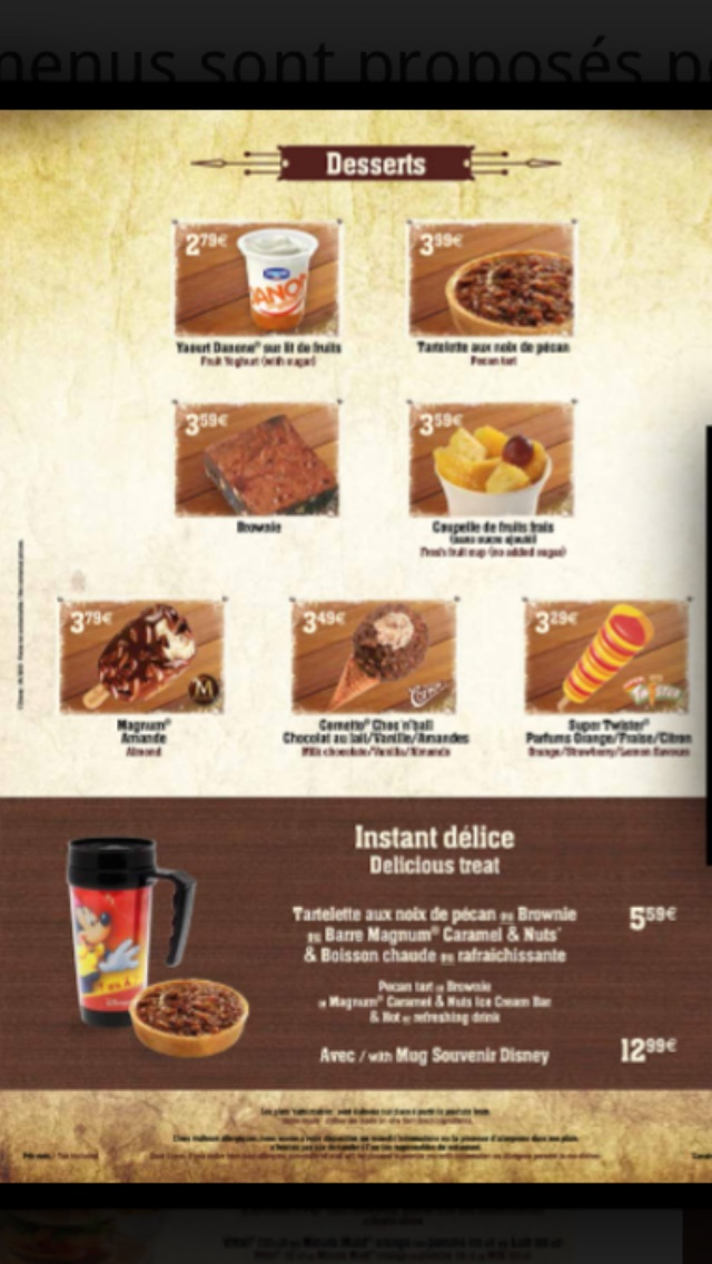 Les menus des Fast food et restauration rapide à Disneyland Paris - Page 20 Image91