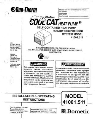 info air climatisé DUO-THERME COOL CAT HEAT PUMP Captur23