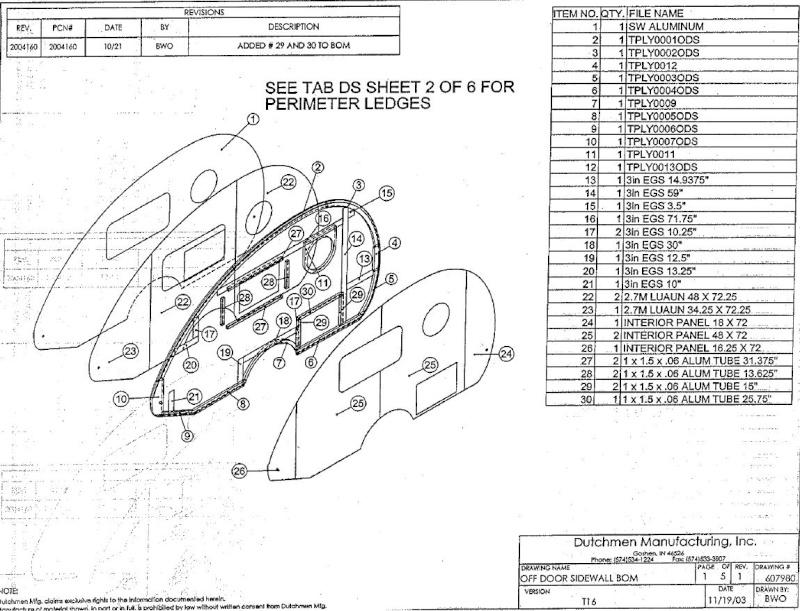 Plan et mesures T@B modèle de Dutchmen Manufacturing Inc. avant 2013 Captur25