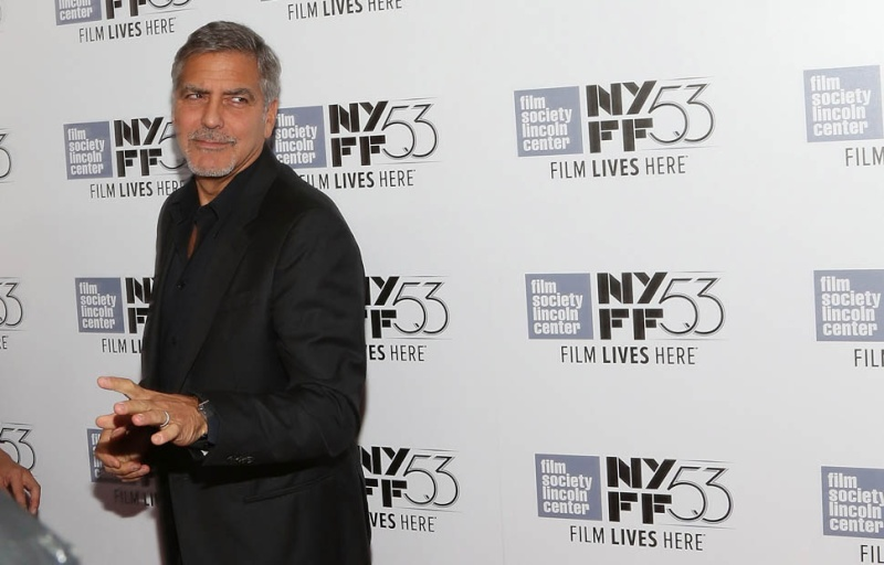 George Clooney at the New York Film Festival anniversary screening of O BROTHER, WHERE ART THOU 29th September 2015 22d10