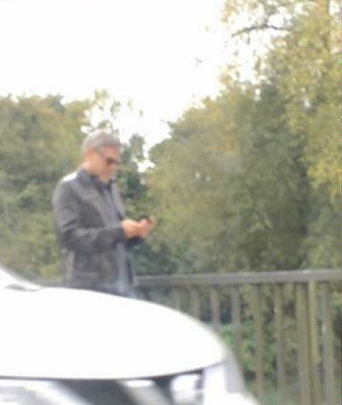 George Clooney seen in Sonning on 3rd October 2015 Buo10