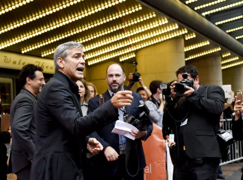 George Clooney at Toronto film festival 11th September 2015 Cc10