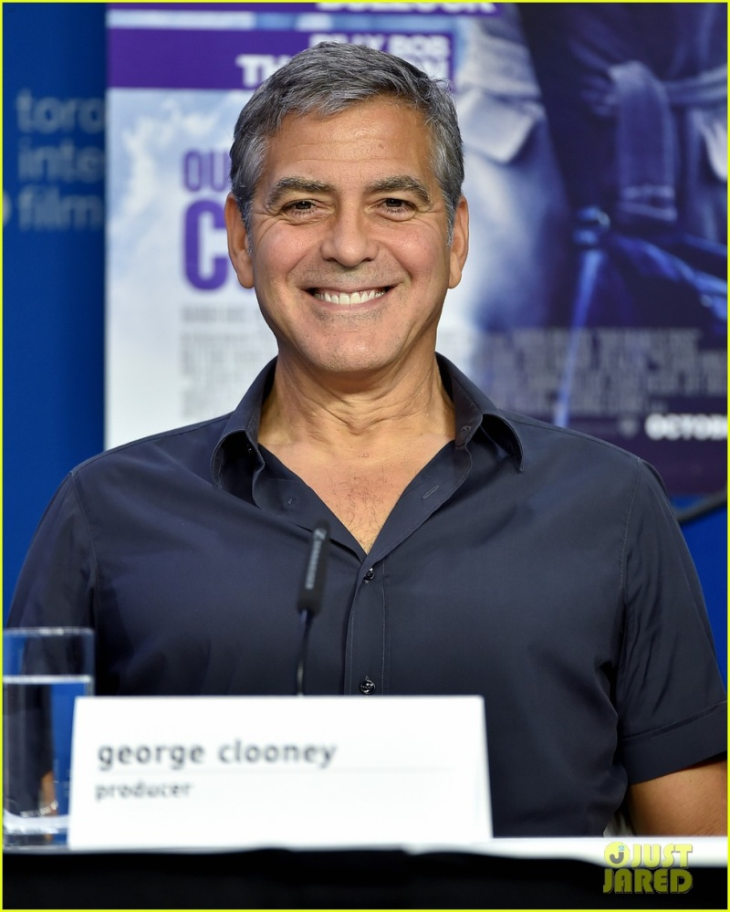 George Clooney at TIFF press conference 12. Sept 2015 Ccc610