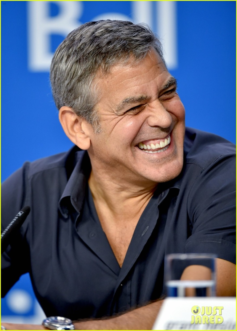 George Clooney at TIFF press conference 12. Sept 2015 Ccc710