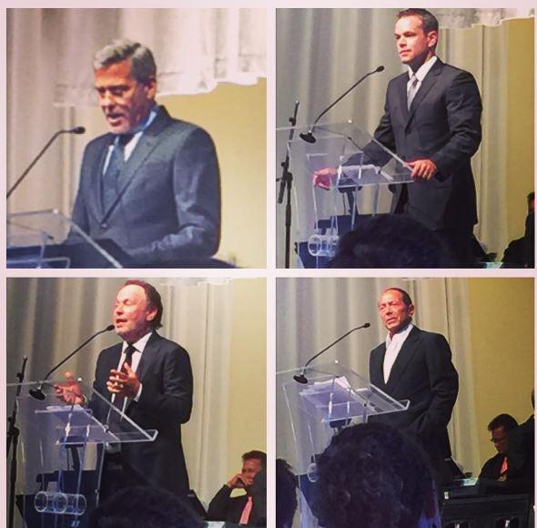 George Clooney At Jerry Weintraub's Memorial 27 September 2015 Ee14
