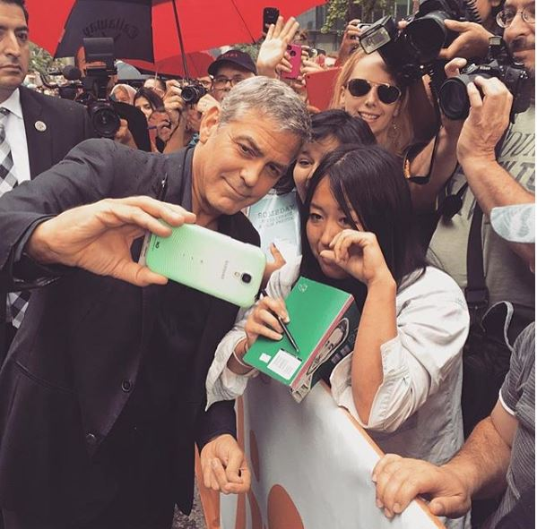 George Clooney at Toronto film festival 11th September 2015 Ee510