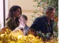 The Clooneys have dinner with Kofi Annan at L'Oleandra September 4, 2015 Jj210