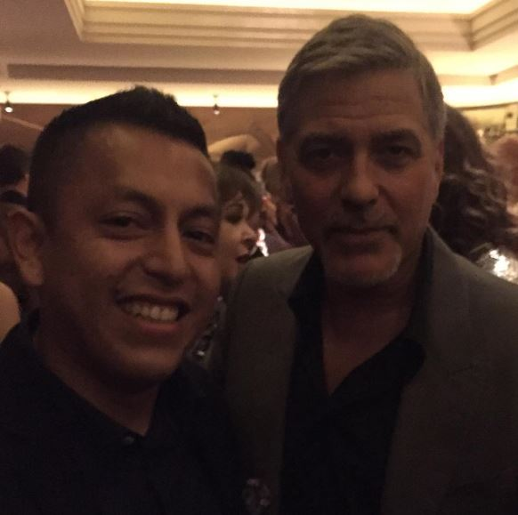 George Clooney at Launch of Casamigos/Cindy Crawford Book October 1, 2015 in London  Qqq211