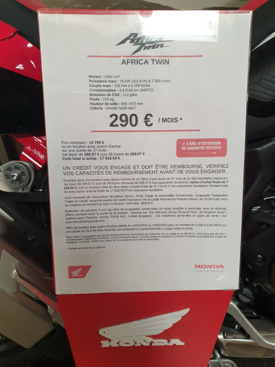 -A vendre-  CRF 1100  - Zéro Kilomètre 2020_118