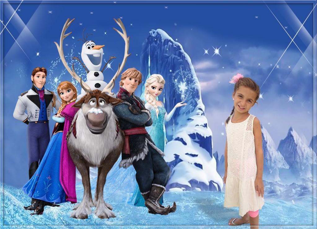 Affiche la reine des neiges  A4-a211