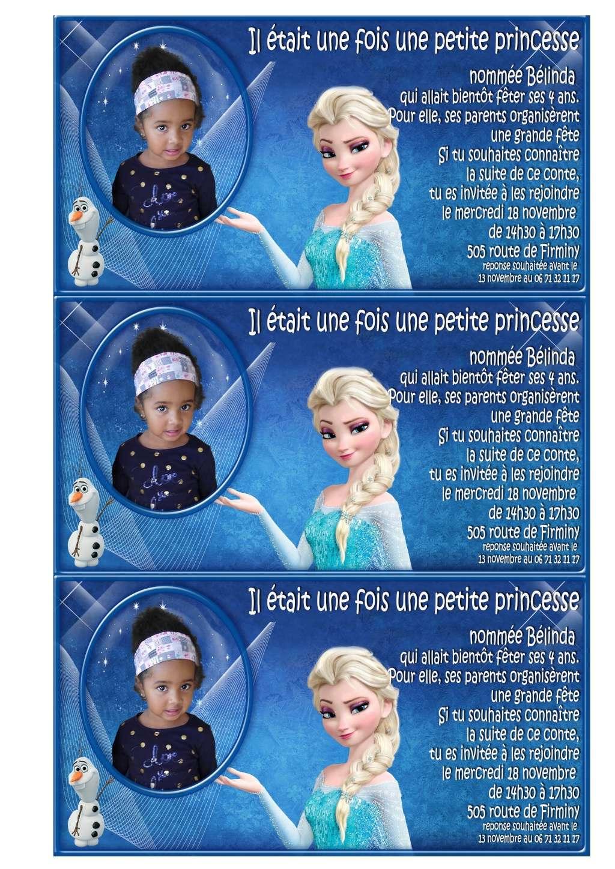 invitation anniversaire reine des neiges Imprim10