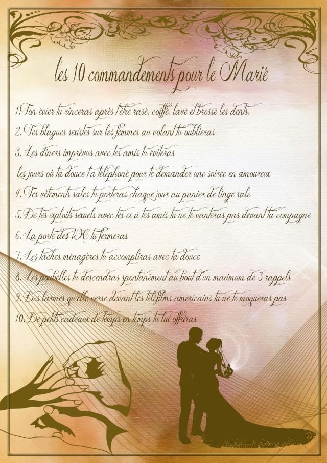 10 commandements de témoins mariage ? Mariy10