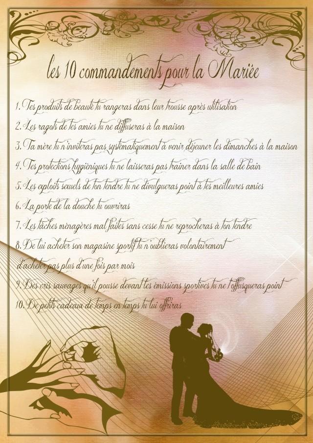10 commandements de témoins mariage ? Mariye10