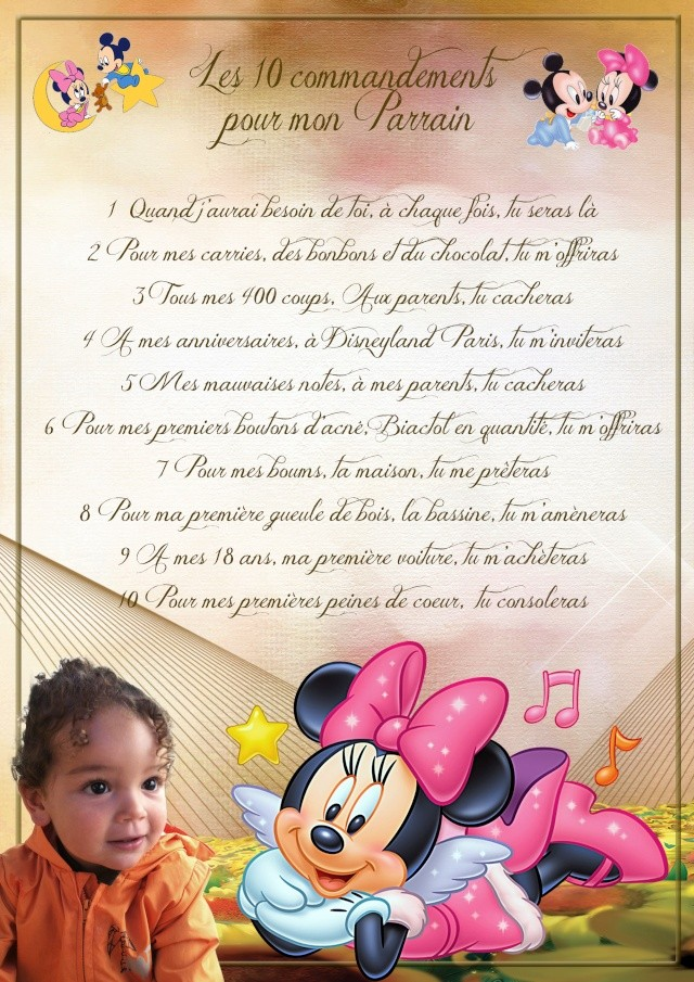 10 commandements theme minnie Parrai10