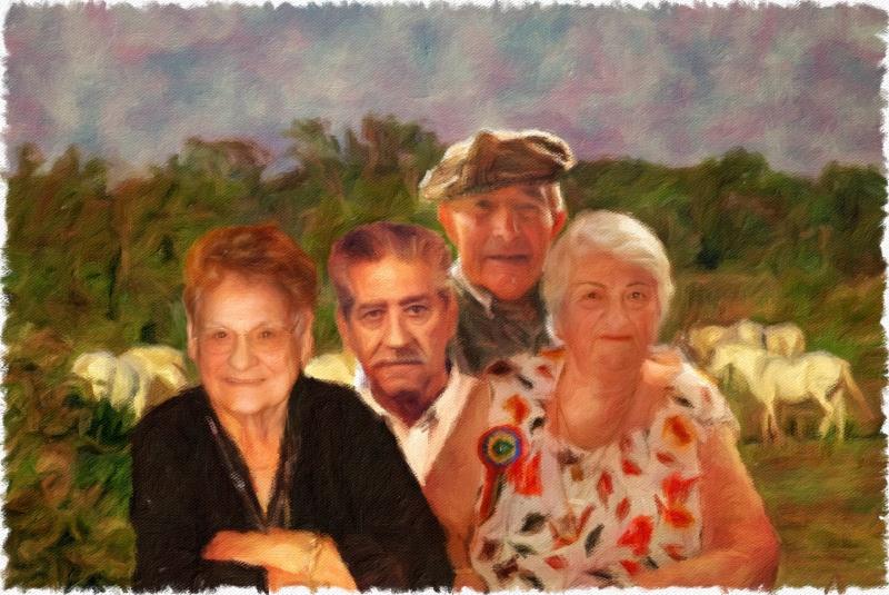 MONTAGE GRANDS PARENTS Pastel10