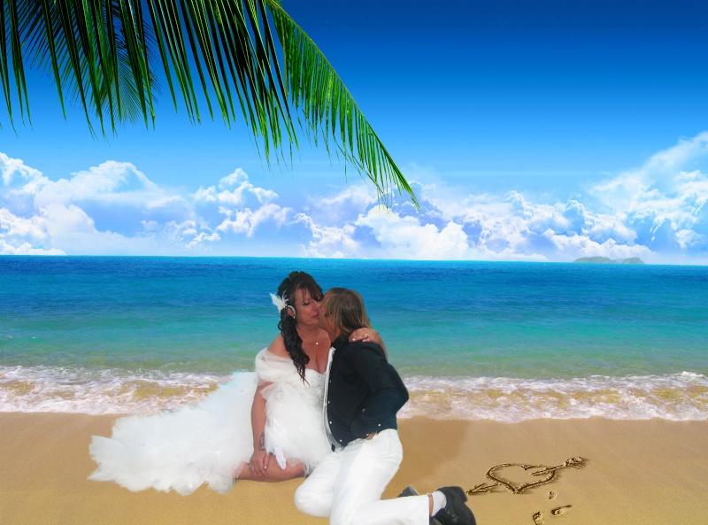 montage mariage changer le decor Plage_10