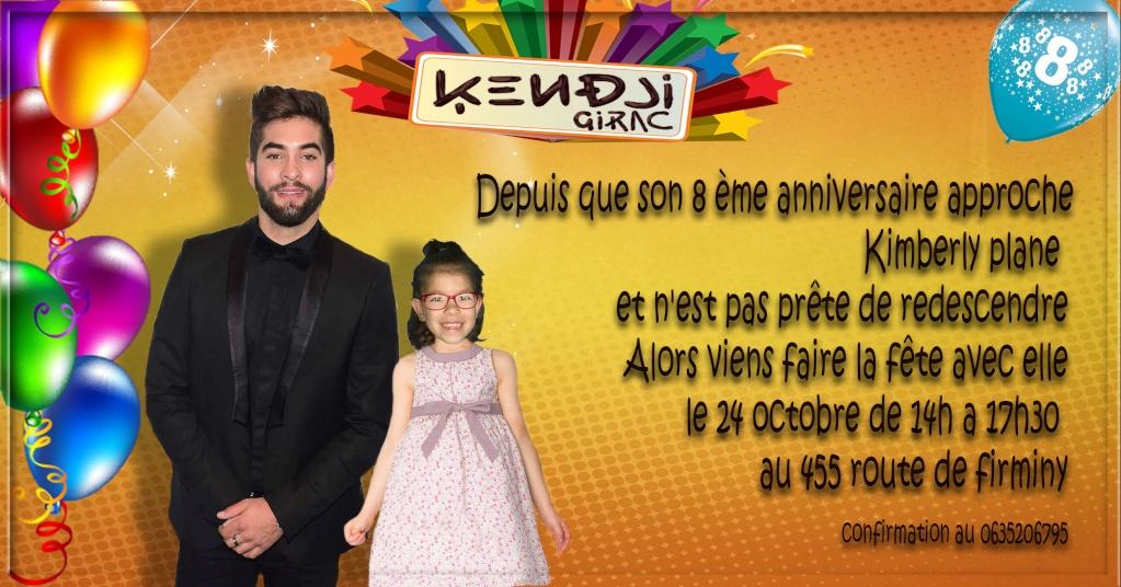 invitation  anniversaire Kendji Girac Sans_t24