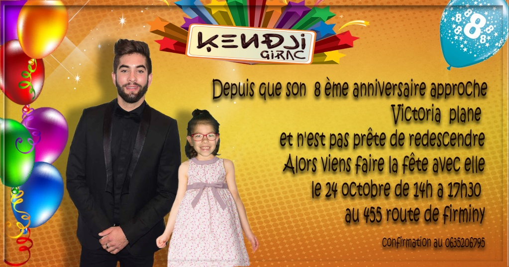 invitation  anniversaire Kendji Girac Sans_t33