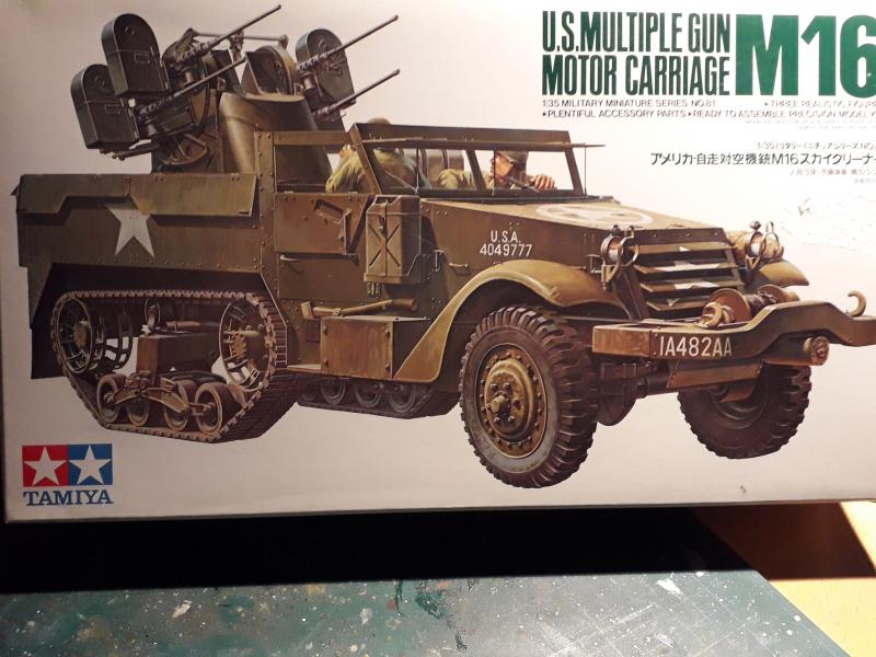 U.S. Multiple Gun Motor Carriage M16 1/35 Tamiya  FINI !!!!!!!! 012