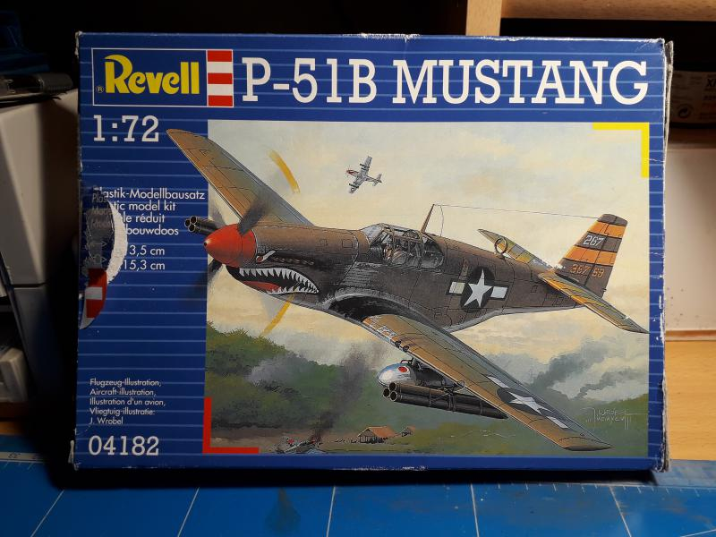 Ouvre-boite: P-51B Mustang de chez Revell 122
