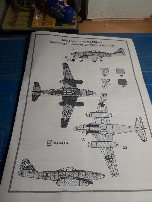 Ouvre-boite Messerschmitt ME 262A 1/72 Airfix 124