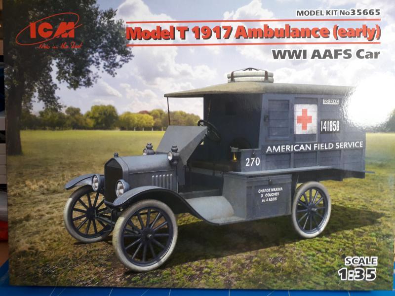 Fil rouge 2019 : Model T ambulance 1917 1/35 de chez ICM *** Terminé en pg 3 128