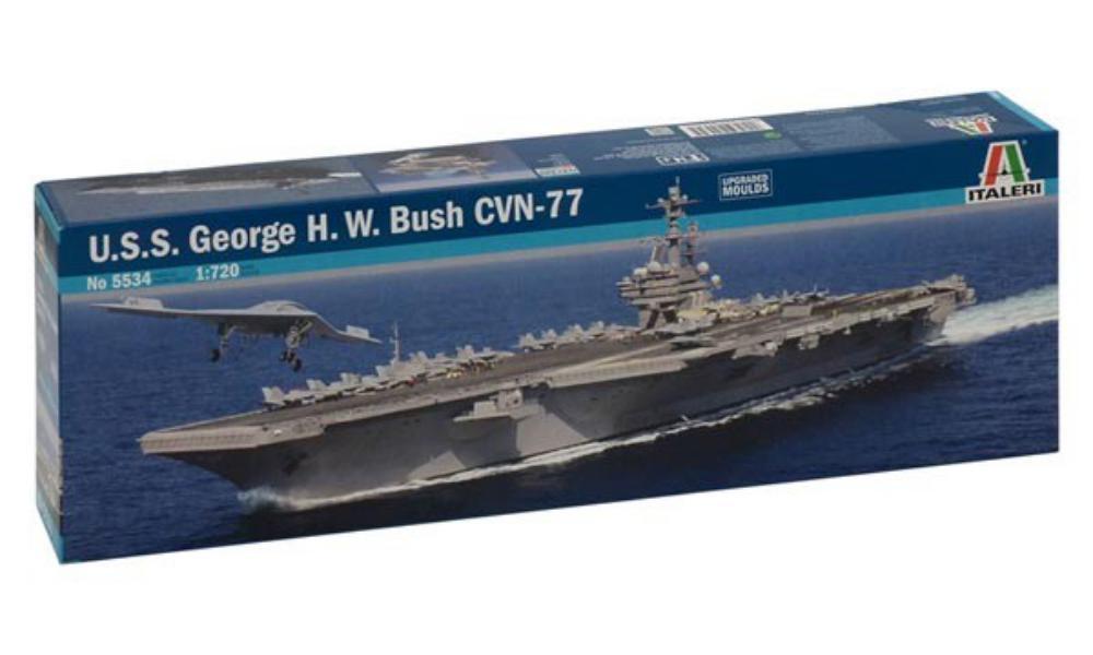 Ouvre boite U.S.S GEORGE H.W. BUSH CVN-77 ITALERI 1/720 138