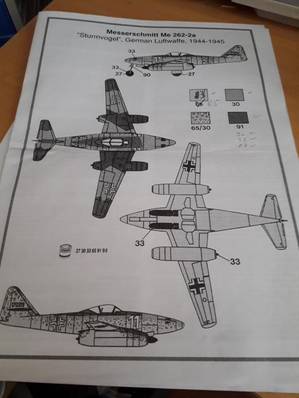 Messerscmitt Me 262A-1A 1/72 Revell page2 2714