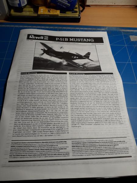 Ouvre-boite: P-51B Mustang de chez Revell 320