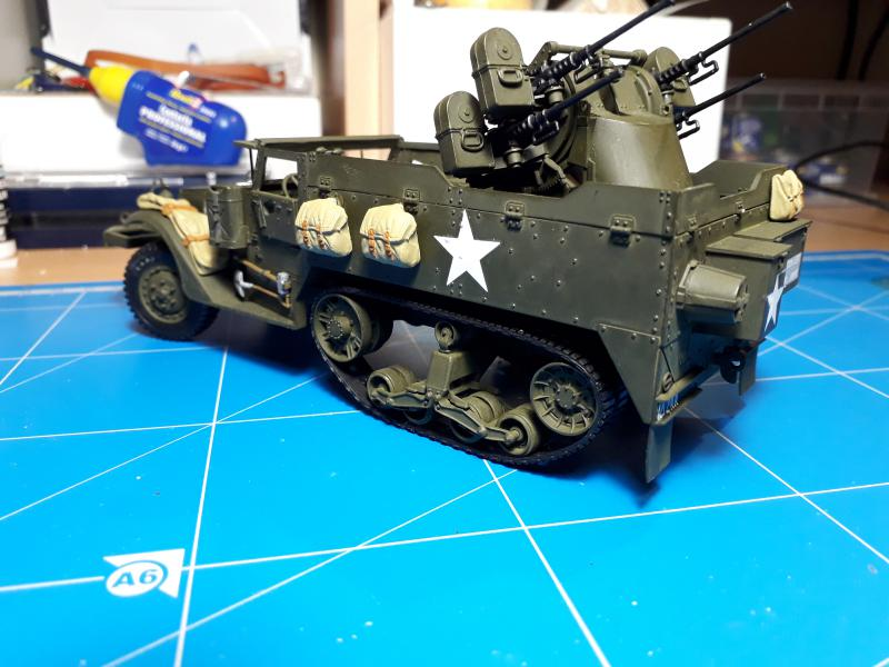 U.S. Multiple Gun Motor Carriage M16 1/35 Tamiya  FINI !!!!!!!! 4810